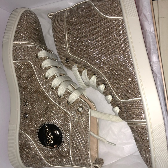 classic fit premium selection well known Christian Louboutin Shoes | Sold Bip Bip Gold Glitter Louboutin ...